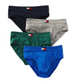 Tommy Hilfiger Basic 100% Cotton Hip Brief - 4 Pack 09TD001