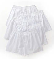 Fruit Of The Loom Big Man Solid Cotton White Woven Boxers - 5 Pack 5P595X