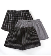 Perry Ellis Mini Plaid Assorted Woven Boxers - 3 Pack 879769